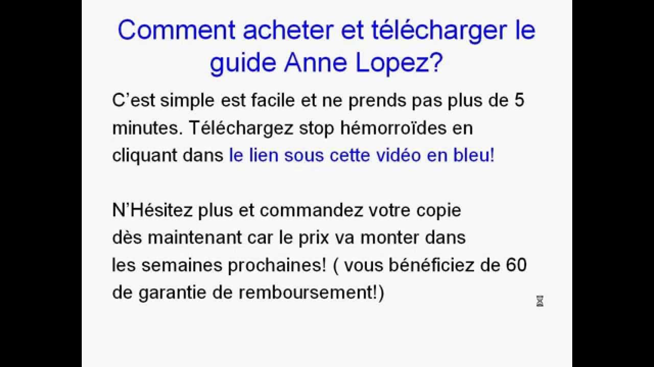 Télécharger Livre Stop Hémorroides par Anne Lopez. - YouTube