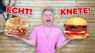 KNETE ESSEN vs ECHTES ESSEN !! 😱 CHALLENGE  II RayFox