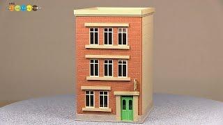 Miniature Paper Craft - Building みにちゅあーとキット ビル作り