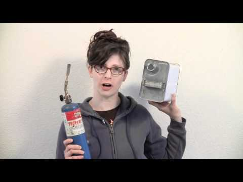 Tinplate Girl #4 -- How To Process Tin Cans For Use In Projects