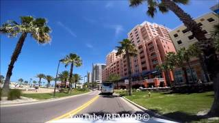Driving Clearwater Beach, Florida Spring Break 2016