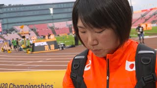 IAAF World Under 20 Tampere - Tomoka Kuwazoe JPN Javelin Throw Silver