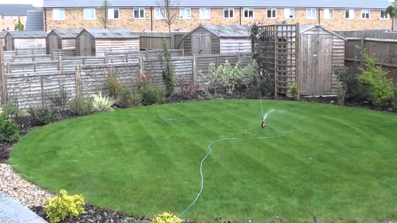 pulsating lawn sprinkler adjustable 0 360 degrees rotating youtube