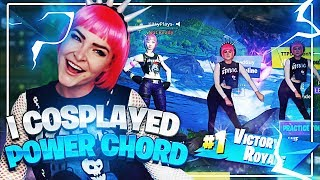 I cosplayed Power Chord while playing as the Power Chord skin.. (Fortnite: Battle Royale)