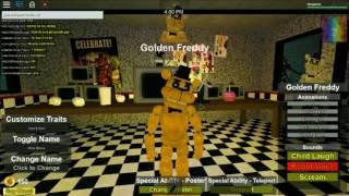 roblox Die Pizzeria Rollenspiel Remastered golden freddy Schaufenster
