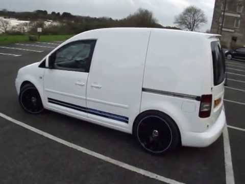 vw caddy Ibis white www.totallyt4.co.uk - YouTube