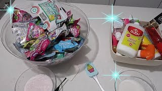 Ne bulduysak kattık slime challenge squishy unicorn surprise toy crunchy gold slime bidünya oyuncak
