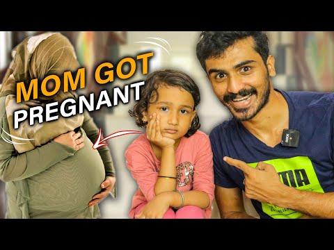Mom got pregnant again🤰🏻😍zaiba's reaction🥵🏃🏻♂️