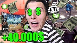 Ich KLAUE 40.000$ in nur einer FOLGE | Einbrecher SIMULATOR #12