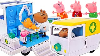 PeppaPig Mobile Medical Center! Let's treat a sick PeppaPig~! GO! GO ! | PinkyPopTOY