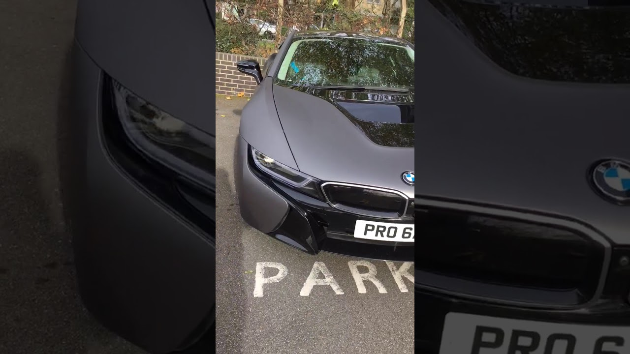 Bmw I8 Matte Grey Black Youtube