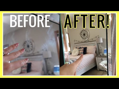 I tried EVERYTHING to get a STREAK FREE MIRROR! Here's the SUPER CLEAN with me SECRET | Andrea Jean