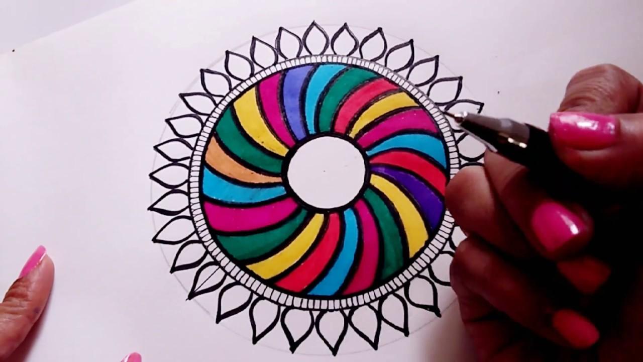 diy dreamcatcher mandala drawing