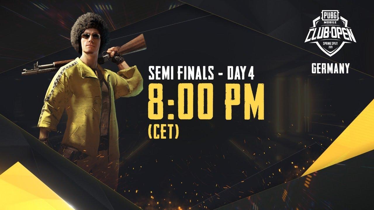 [DE] PMCO Germany Semi Finals Day 4 | Spring Split | PUBG MOBILE CLUB OPEN 2020