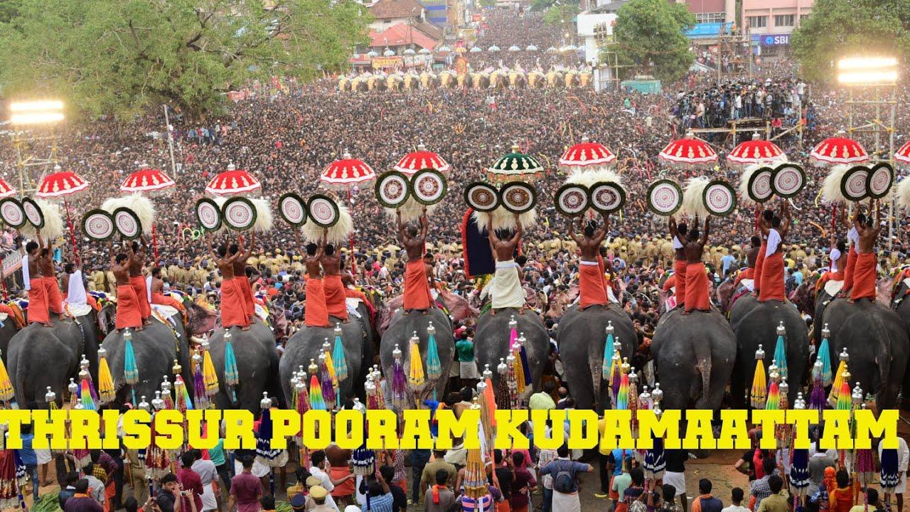 Thrissur Pooram 2017 Kudamattam At Thekke Nada ...