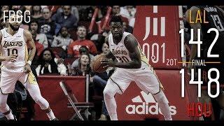Lakers Battle in Houston But Fall in Double OT