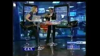 Darío Gutiérrez con Mónica Fonseca en NTN24