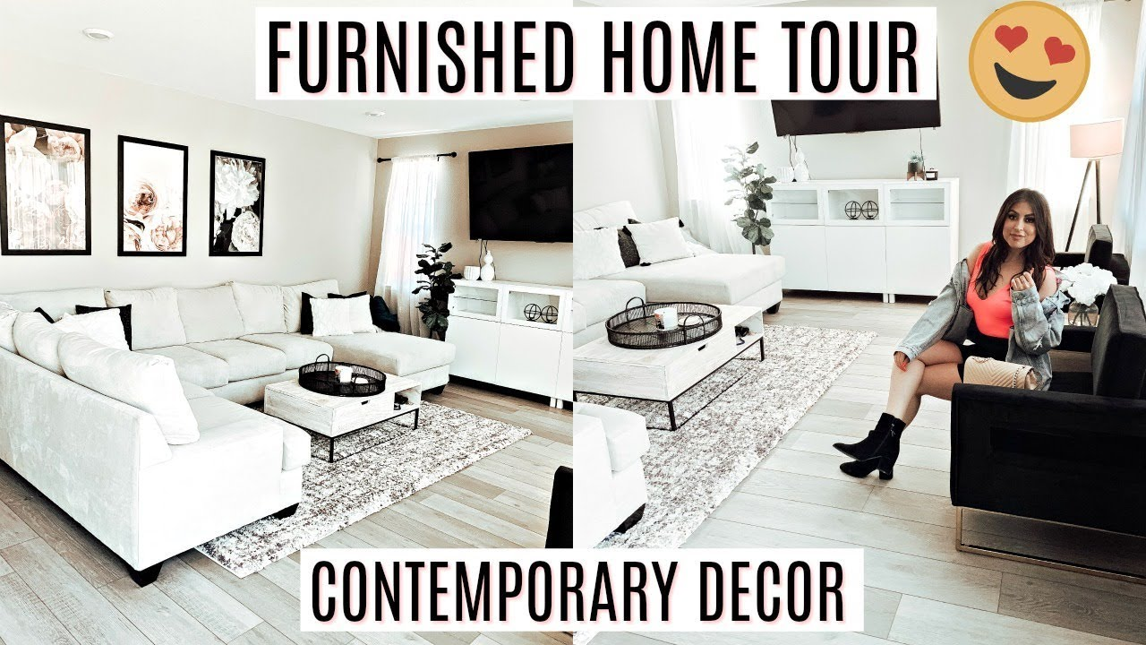 Furnished House Tour 2019 Contemporary Modern Decor