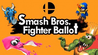 Smash Bros. Fighter Ballot Early Results - Discussion & Thoughts