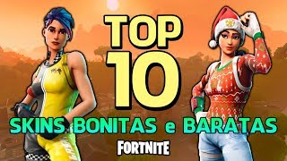 FORTNITE-TOP 10 BEAUTIFUL and INEXPENSIVE SKINS!