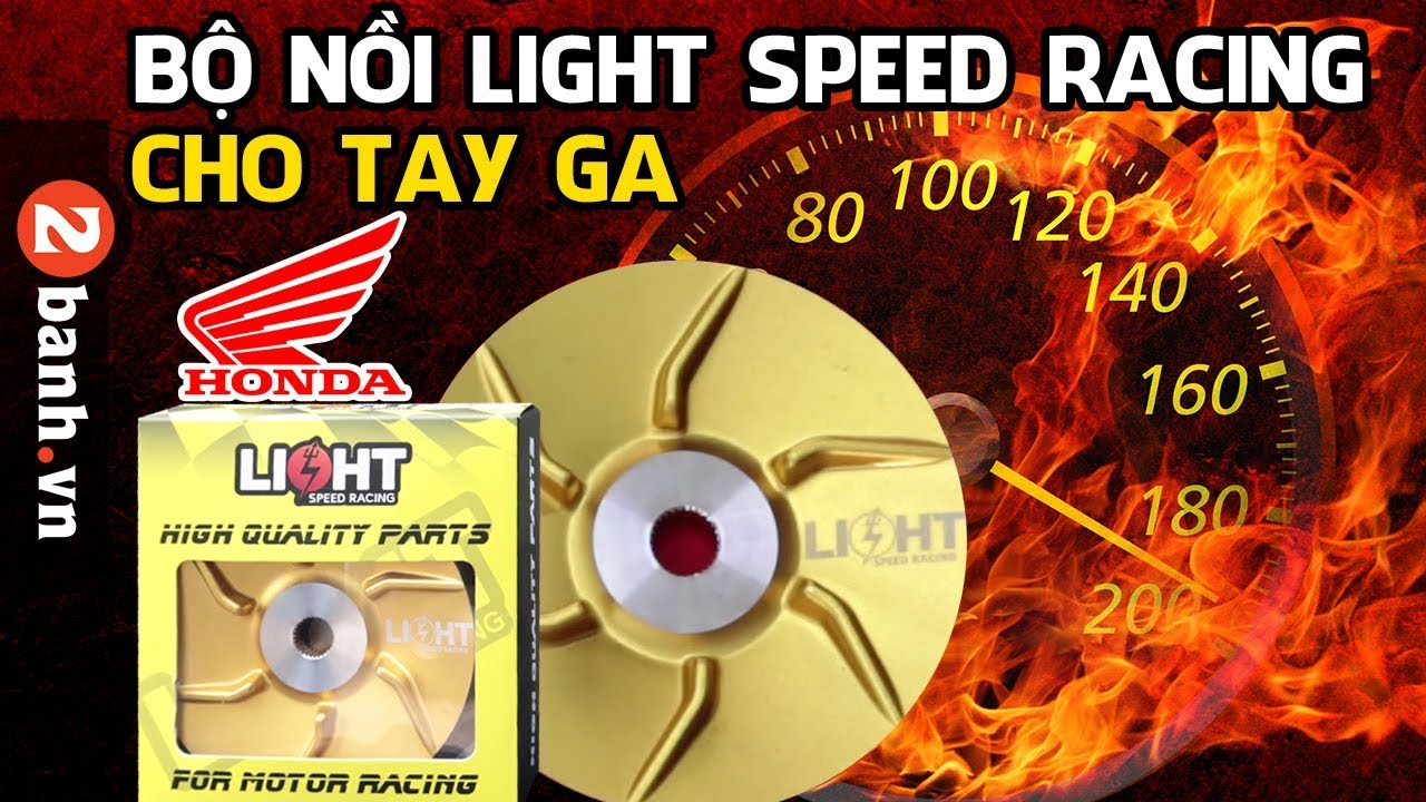 Bộ nồi Light Speed Racing dành Vario – Click – PCX – Air Blade – Lead – SH 125