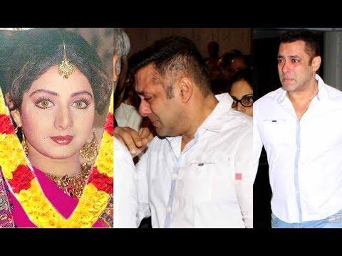 Salman Khan Crying For Sridevi Will Melt Your Heart