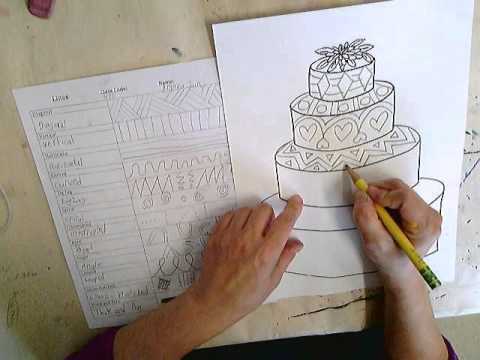 Wedding Cake Lines And Shapes Combination Drawing Youtube