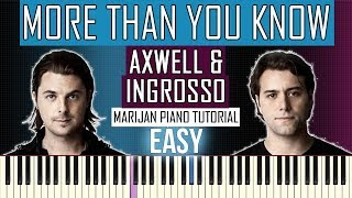 Download Lagu How To Play: Axwell /\ Ingrosso - More Than You Know   Piano Tutorial EASY + Sheets Mp3