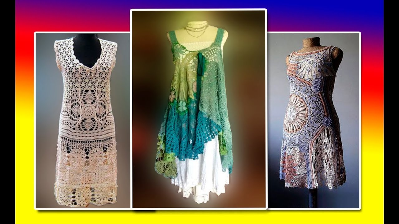 Дамские платья  сарафаны и туники в стиле бохо шик(идеи для вязания).