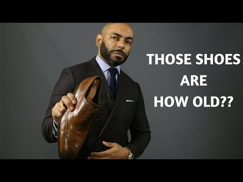 How To Maintain Men's Dress Shoes/How Men Can Make Their Dress Shoes Last 20 Years!!