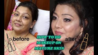 makeup transformation || makeup for mature skin || hiding fine lines with makeup ||soft makeup look
