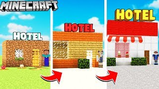 OD HOTELU NOOB DO HOTELU PRO W MINECRAFT! | Vito vs Bella vs Noob