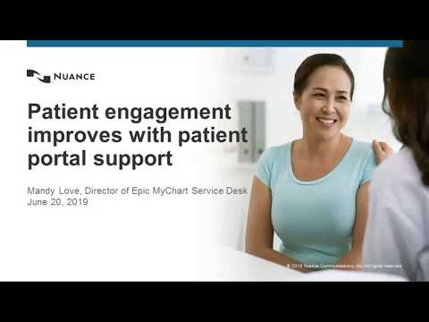 WEBINAR - Patient Engagement Starts With Proper Support Of The Patient Portal