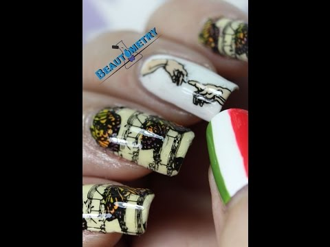 Italian Inspired Nail Art Youtube
