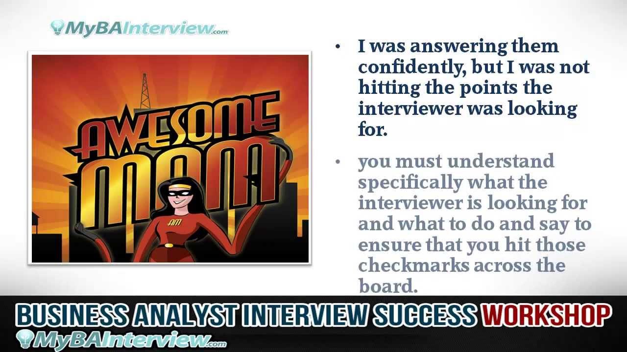 business analyst interview workshop introduction and interview business analyst interview workshop introduction and interview success video 1 of 6