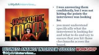 Business Analyst Interview Workshop - Introduction and Interview Success (Video 1 of 6)