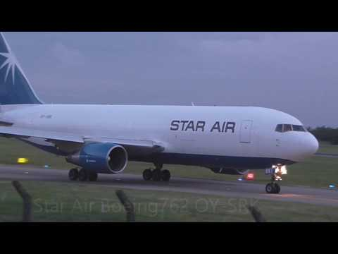 Early morning (3-6am) Cargo movements East Midlands Airport HD 2017
