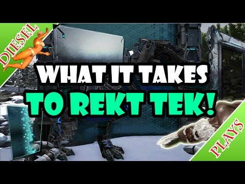 ART OF ARK - BEST WAY TO DESTROY TEK STRUCTURES!