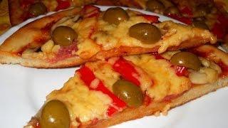 Пицца рецепт  Пицца Salame на тонком корже