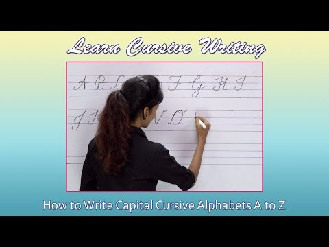Cursive Writing For Beginners | Writing Cursive Alphabets : Capital | Cursive Handwriting Practice