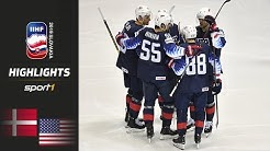 Dänemark unterliegt deutlich: Dänemark – USA 1:7 | Highlights | IIHF Eishockey-WM 2019 | SPORT1
