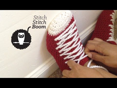 659845bb976337 Crochet Tutorial  Sneaker Slippers - YouTube