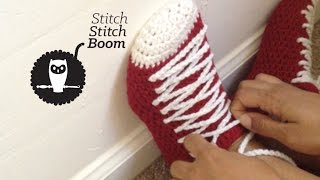 Crochet Tutorial: Sneaker Slippers