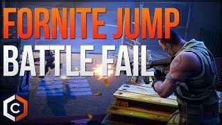 Fortnite Hilarious Jump Battle Fail - Fortnite Quick Clip w/ Media Headz TV