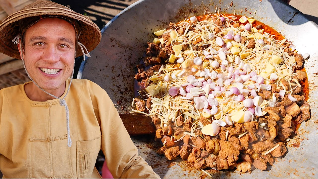 Download Burmese Food - CURRY JACUZZI!! 5 Aunty's Cooking For Entire Shan Village!!