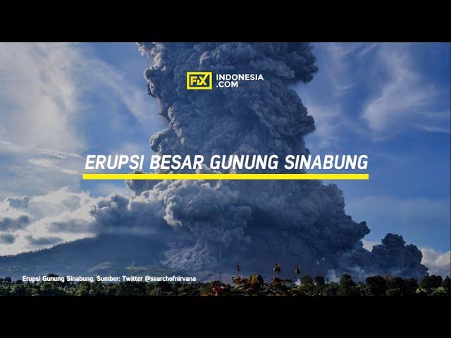 Erupsi Besar Gunung Sinabung