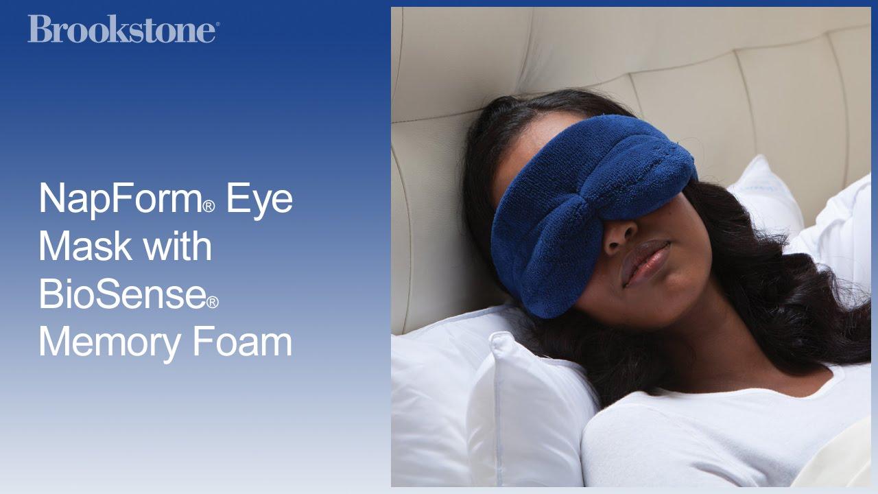645684e99 NapForm® Eye Mask with BioSense® Memory Foam - YouTube