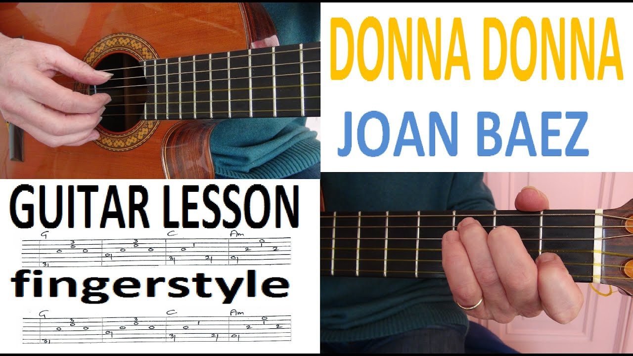 Donna Donna Joan Baez Fingerstyle Guitarlesson Youtube