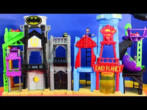 Imaginext Batman And Superman Superhero Flight City With Daily Planet And Wayne Tower