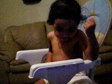 TUTU IN HER HIGH CHAIR  AND THE BOYS